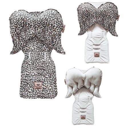 Leopard + Beige Velvet Pad